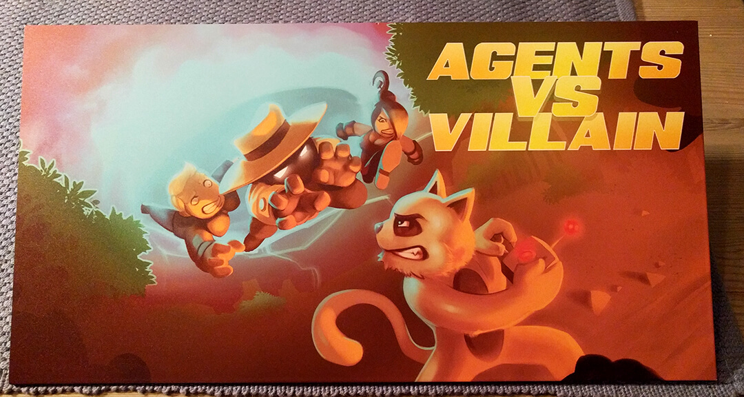 metal poster of the Agents vs Villian artbox